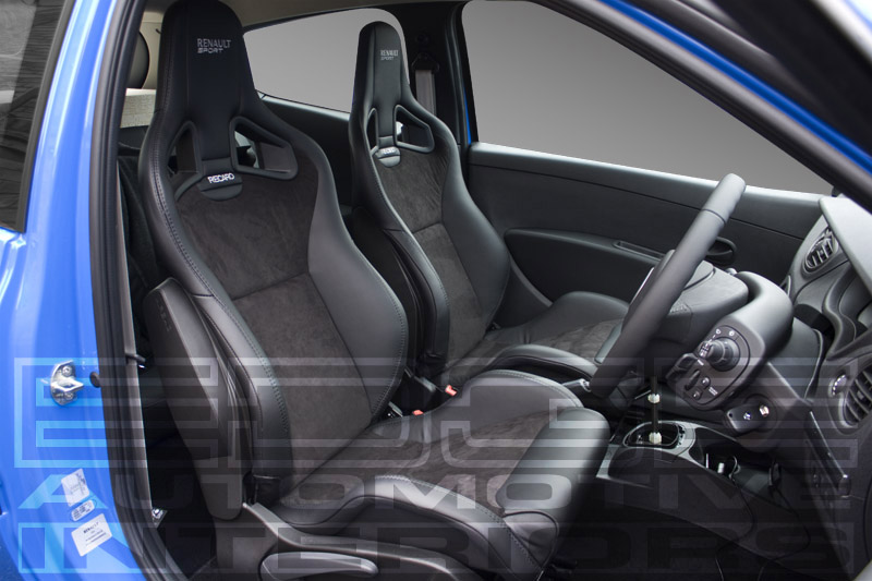 renault clio 200 cup alcantara leather retrim edge automotive. Black Bedroom Furniture Sets. Home Design Ideas
