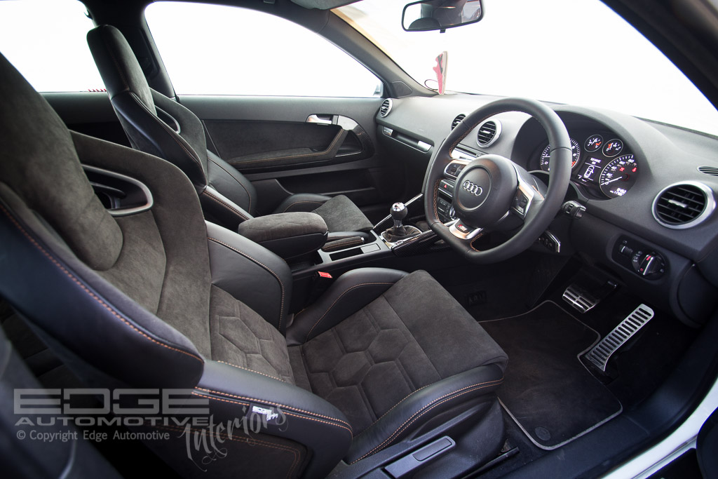 leather and alcantara audi s3 retrim edge automotive. Black Bedroom Furniture Sets. Home Design Ideas