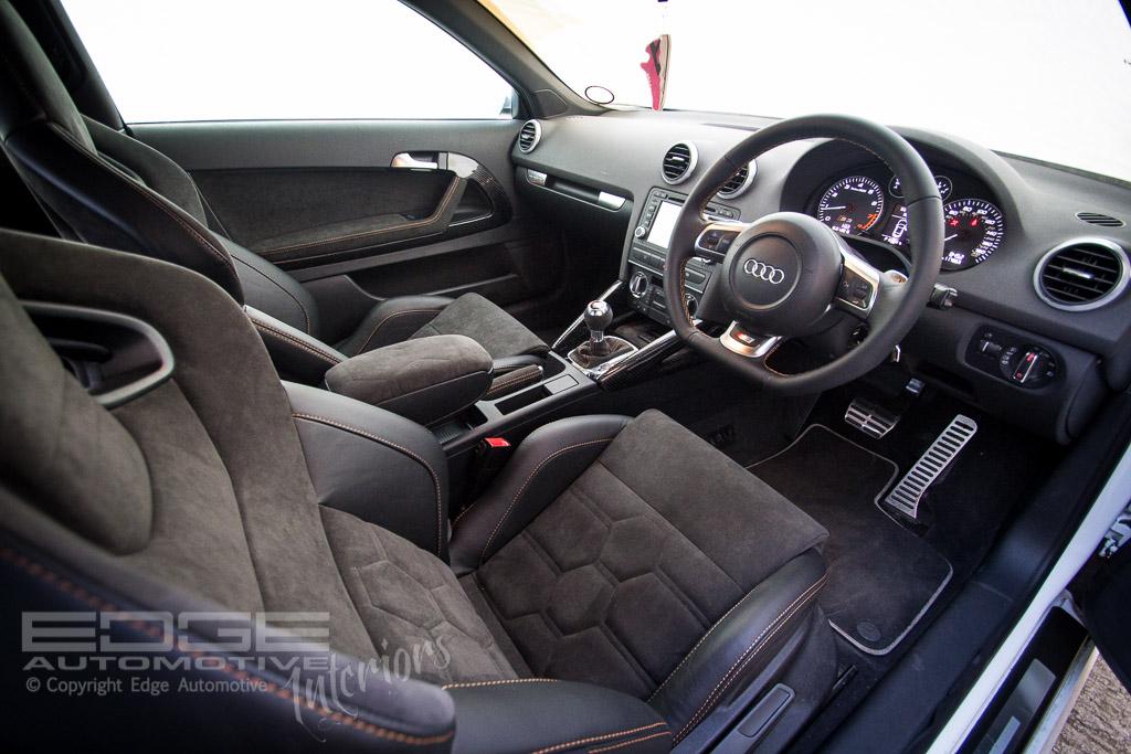 Leather and alcantara audi s3 retrim edge automotive for Audi s3 interior