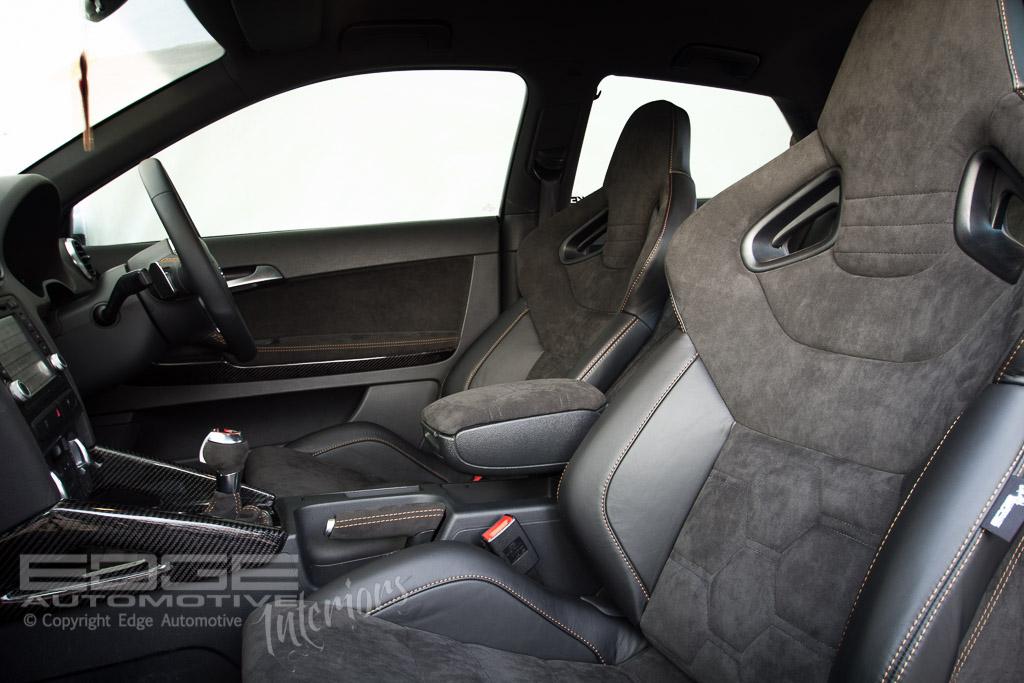 leather and alcantara audi s3 retrim edge automotive. Black Bedroom Furniture Sets. Home Design Ideas