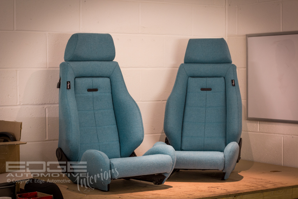 tweed retrim on recaro classics edge automotive. Black Bedroom Furniture Sets. Home Design Ideas