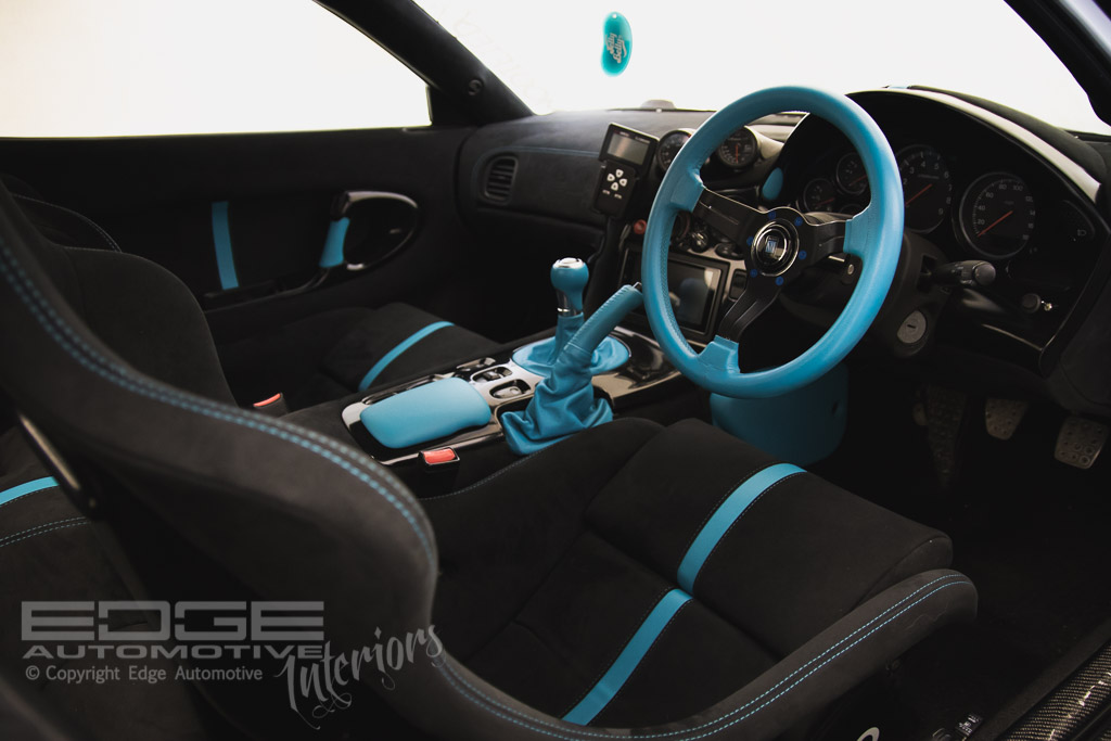 custom alcantara mazda rx7 edge automotive. Black Bedroom Furniture Sets. Home Design Ideas