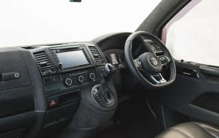 EDGE Automotive Leather and Alcantara retrim to VW T5 Transporter Interior